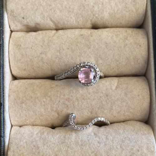 Beautiful Peach Sapphire Wedding