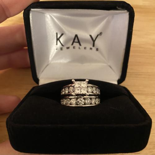 Engagement ring (bridal set)