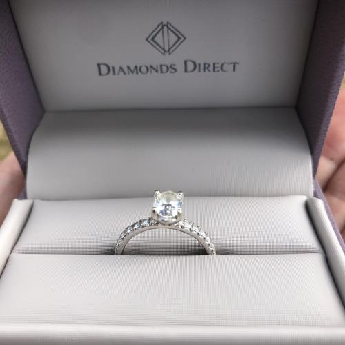 Oval GIA Engagement Ring