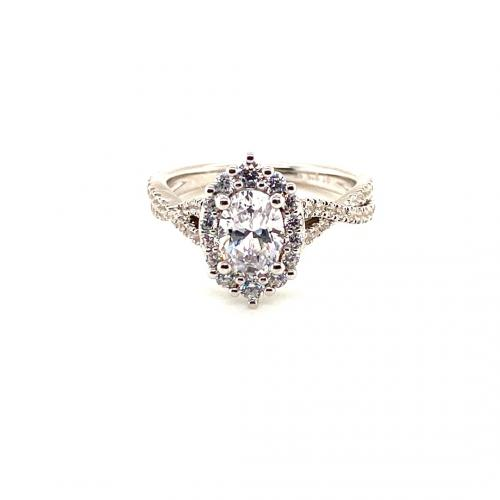 1.75CTW Oval Halo Diamond