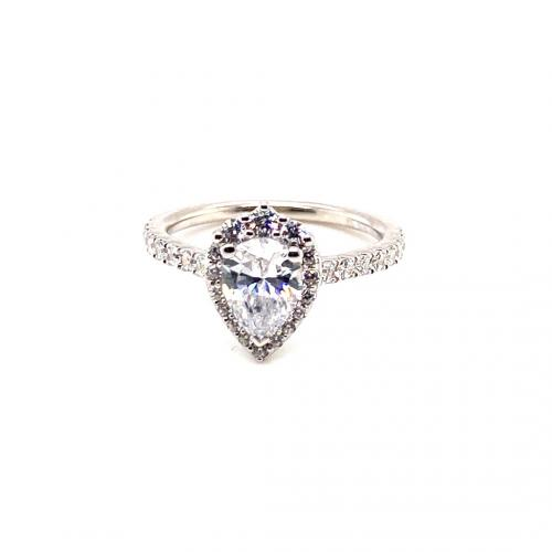 1.75CTW Pear Halo Diamond