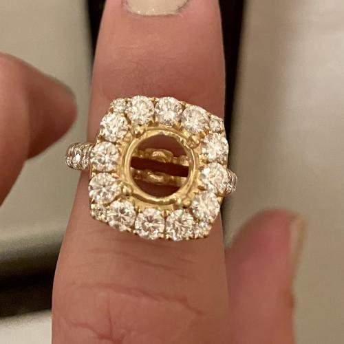 18k yellow gold semi