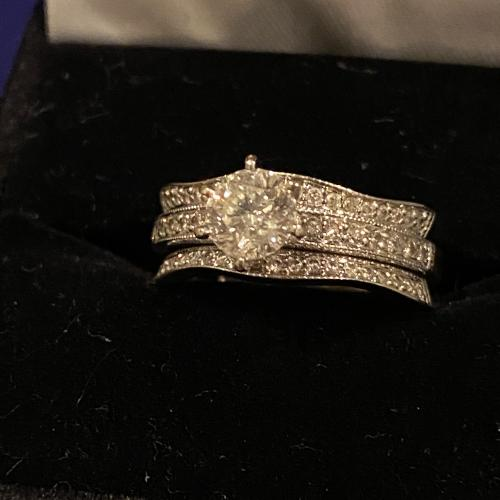 Wedding ring with guard