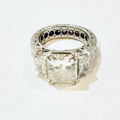 4.02ct Radiant Engagement Ring