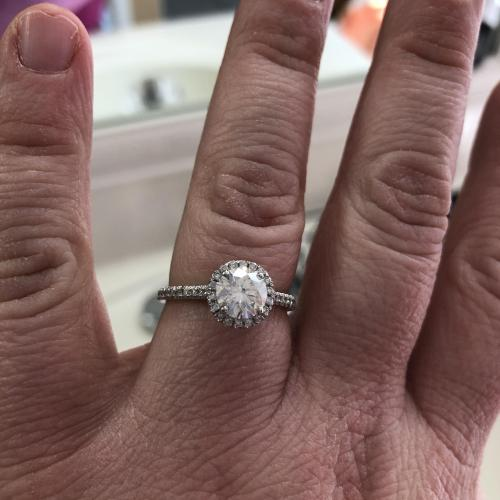 Halo Engagement Ring by