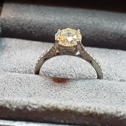 Tacori kaleidoscope engagement ring
