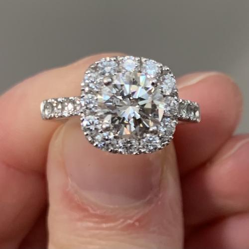 2.06 ctw engagement ring.