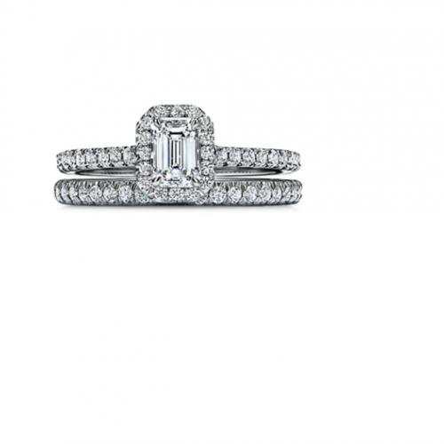 Tiffany Soleste® Emerald-cut Halo