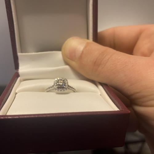 Helzberg Princess Cut Halo