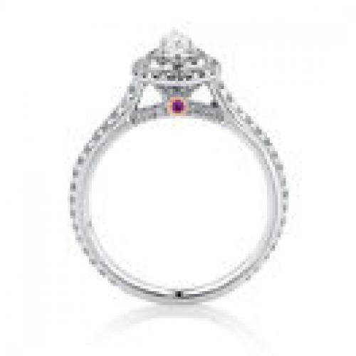 Engagement Ring with 0.87