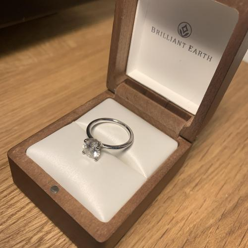 Brilliant Earth Moissanite Engagement