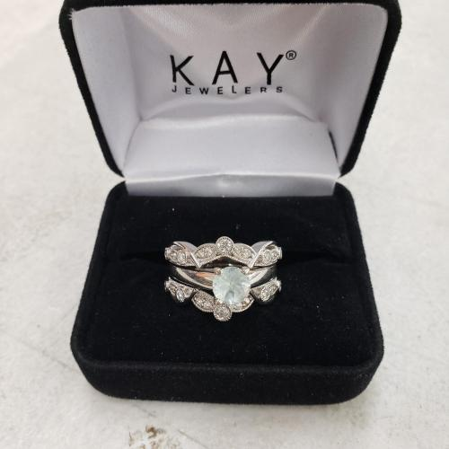 Kay Jewelers Aquamarine Ring/Band
