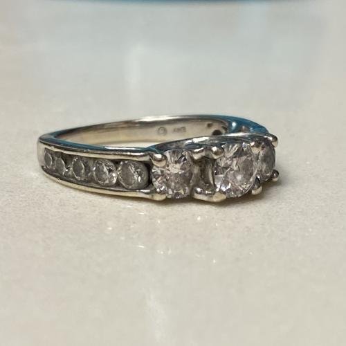 3 Stone Diamond Engagement