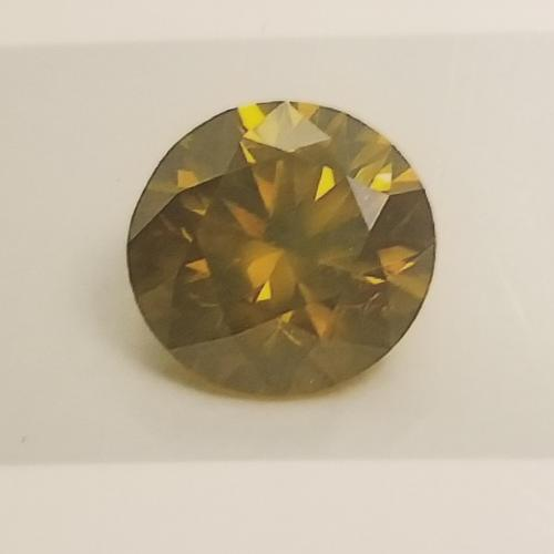 1.57ct Natural Certified Greenish