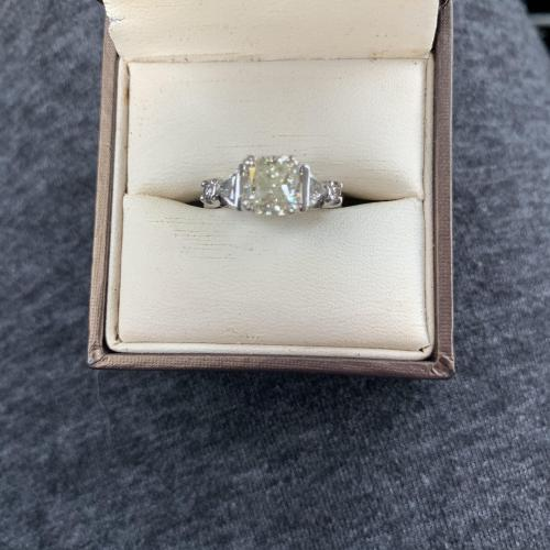 Custom radiant diamond engagement