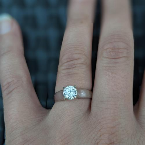 1 Carat Solitaire Engagement
