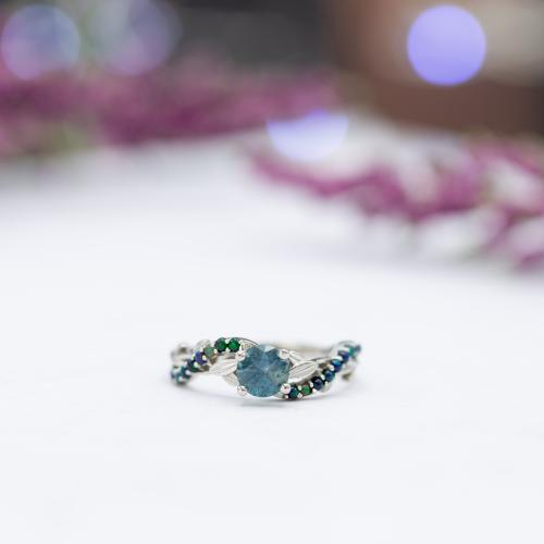 Nature themed engagement ring