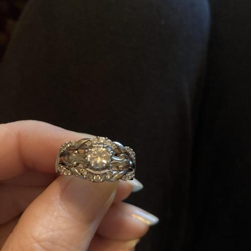 Engagement Ring with Wedding