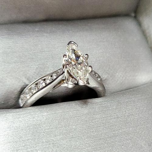 Marquise with Channel set