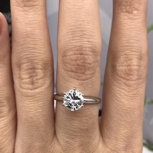Tiffany Style Solitaire Ring