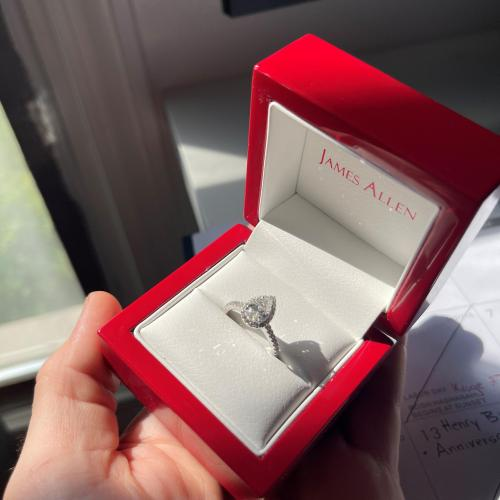 Brand New 1.01ct Pear