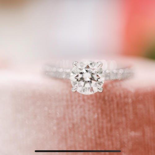 Four Prong Pave Engagement
