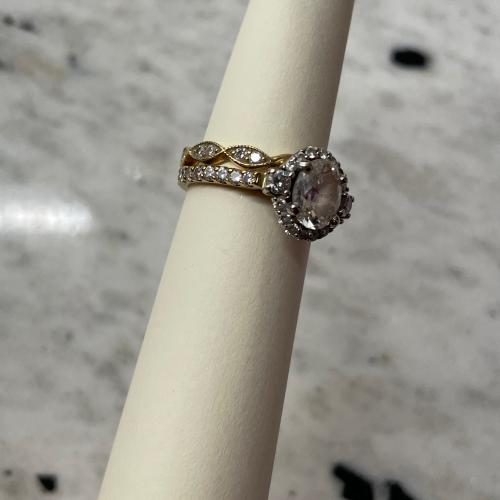Oval 1.0ct with halo