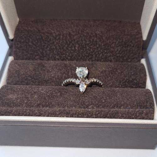 Pear cut engagement ring
