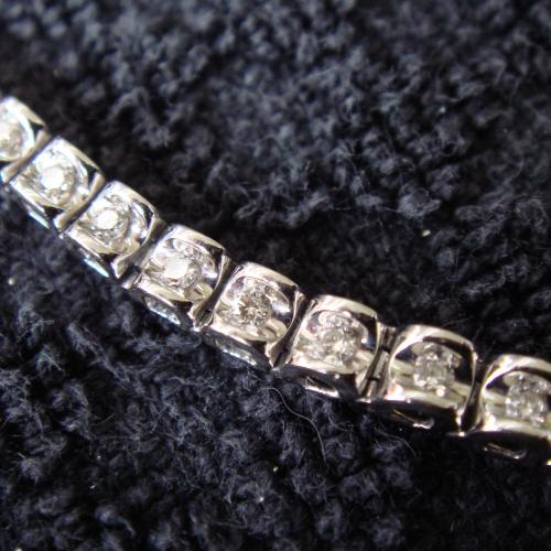 14k diamond tennis bracelet,