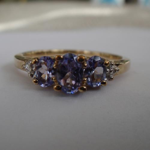 Tanzanite ring (Tanzanite is