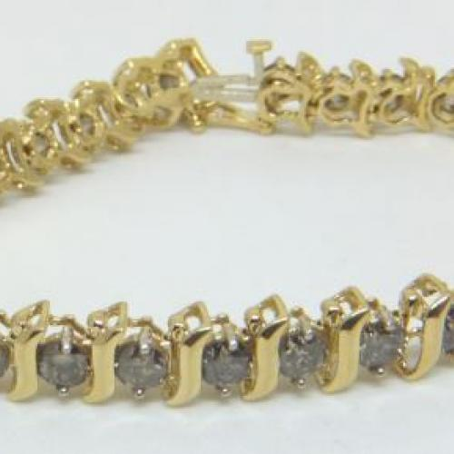 Diamond tennis bracelet 7.56