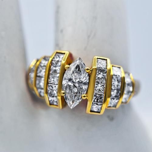 Yellow Gold Fashion Diamond