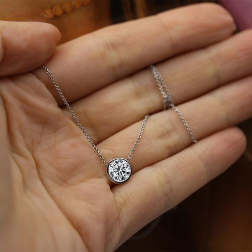 Beautiful single stone pendant
