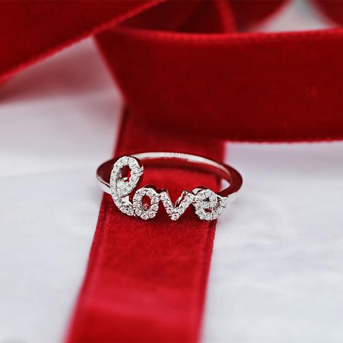 Love ring in white