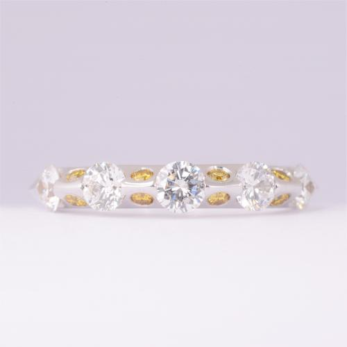 Contemporary Yellow Diamond Band