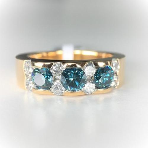 Blue Diamond Rose Gold