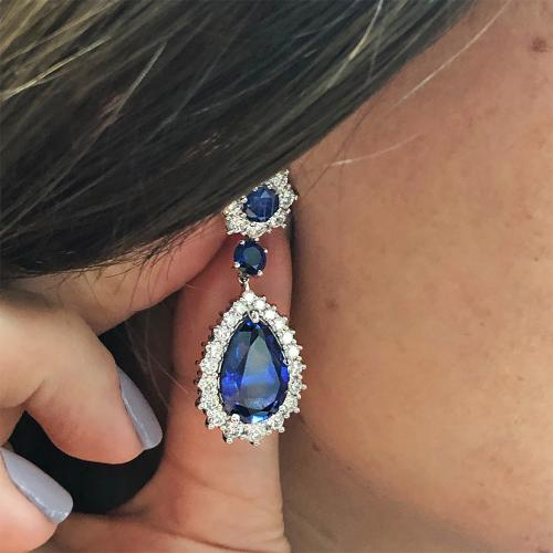 Amazing blue sapphire earrings