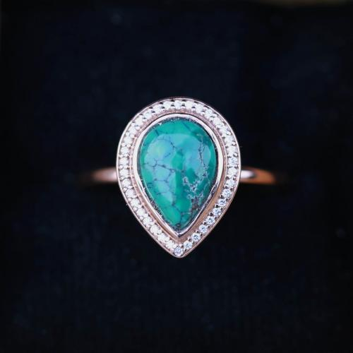 Pear Shaped Turquoise Ring