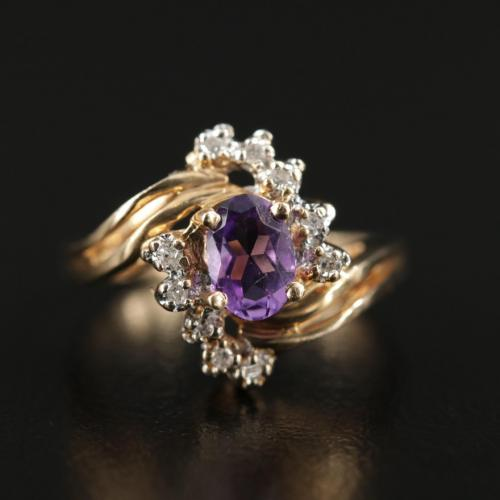 Vintage Amethyst and Diamond