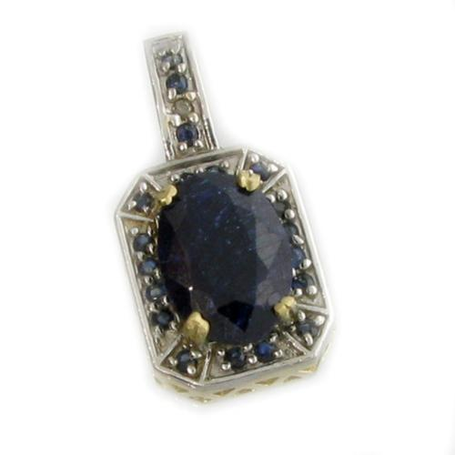 14KT. Gold, 10.48CT Blue