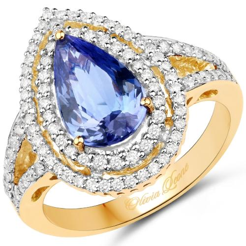Tanzanite and Diamond Gold