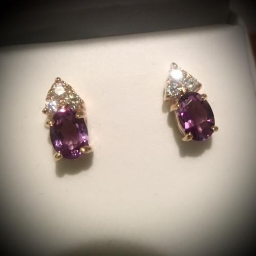 Vibrant Amethyst earrings ,