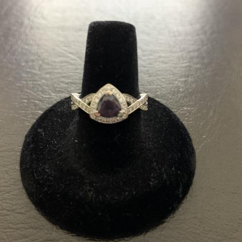Custom Trillion Alexandrite Halo