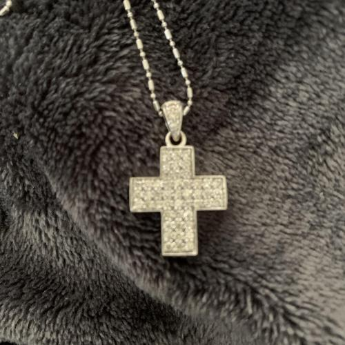 White Gold Cross Necklace