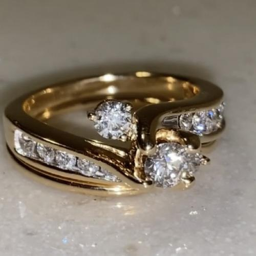 One Diamond Wedding Set