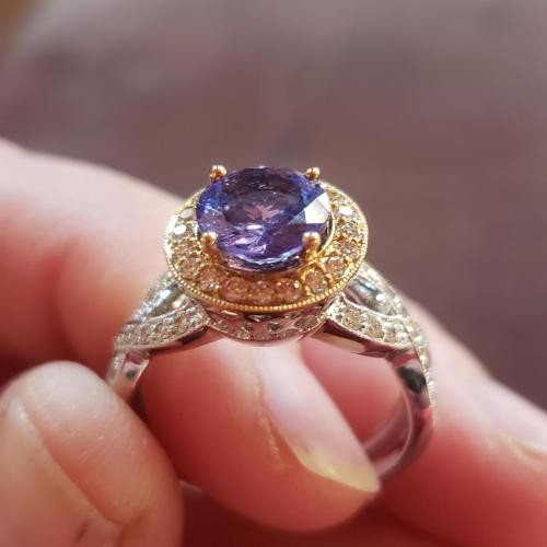 LeVian Tanzanite and diamond