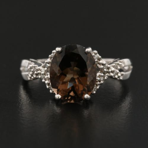 Sterling Silver Smoky Quartz