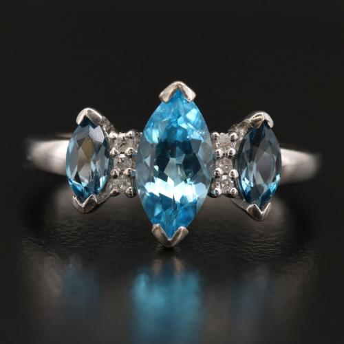 Topaz and Diamond Sterling