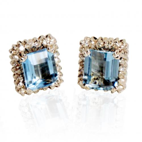 3ct. Aquamarine pair of Earrings