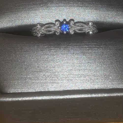 Sapphire Stone Promise Ring